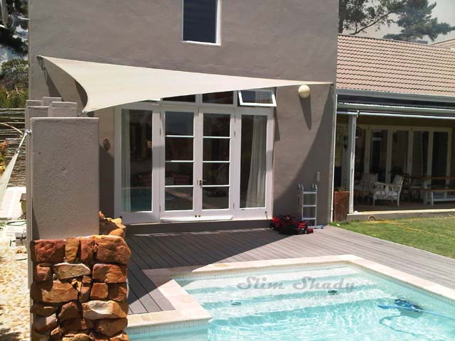 Hout-Bay triangle poolside shade-sails