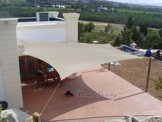 Large multisided shade sail